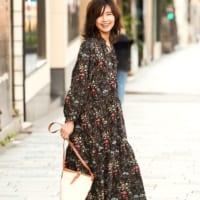 エアリー感がポイントの「シフォン素材ワンピース」☆春の大人可愛いオフコーデ特集!