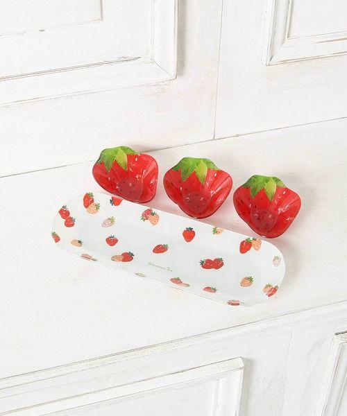 イチゴのガラスボウル