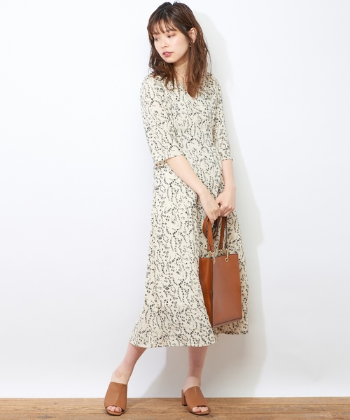 [natural couture] レトロ小花ワンピース