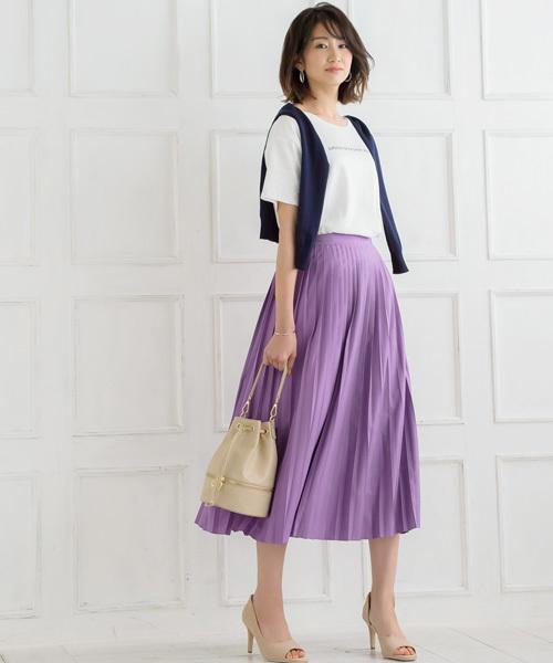 [Pierrot] 【CLASSY3月号掲載】プリーツスカート