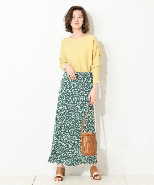 [RIVE DROITE] 【手洗い可】小花柄プリントスカート