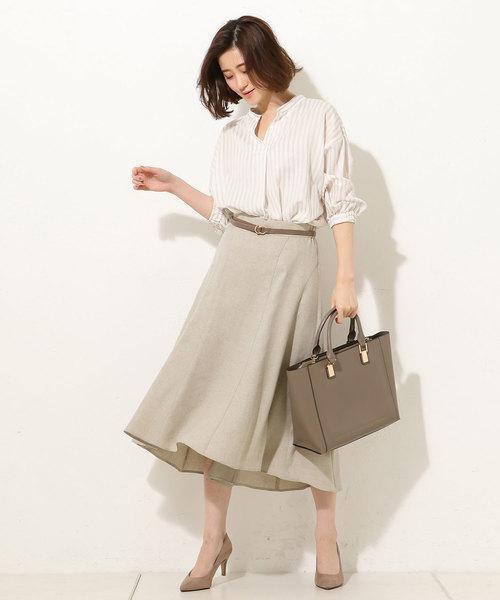 [RIVE DROITE] 【手洗い可】リネンライクフィッシュテールスカート