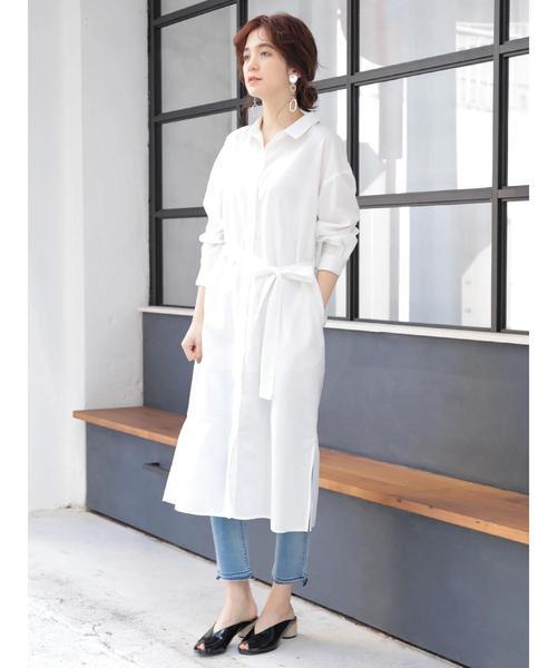 [YECCA VECCA] 裾カットオフデニムパンツ