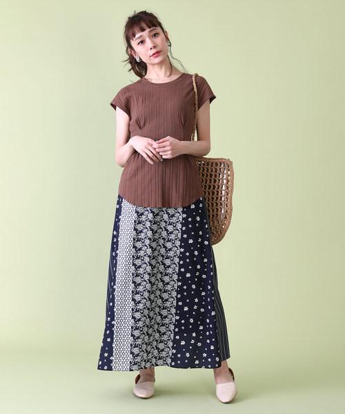 [FREAK'S STORE] パッチワークプリントスカート