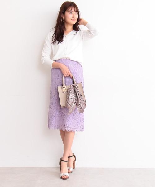 [N.(N. Natural Beauty Basic)] レースミモレスカート
