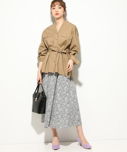 [ViS] パチポケ付きオーバーサイズシャツ