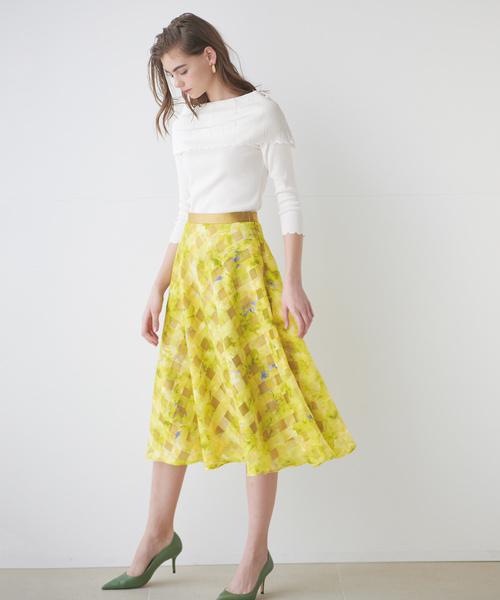 [STRAWBERRY-FIELDS] フラワーベール スカート