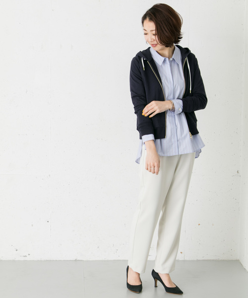 [URBAN RESEARCH ROSSO WOMEN] ベーシックZIPパーカー