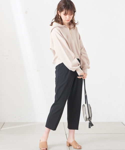 [natural couture] カットジョーゼットテーパード