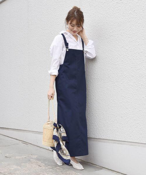 [SHIPS for women] 【手洗い可能】ジャンパースカート◇