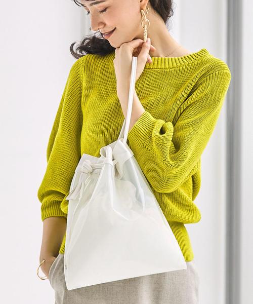 [green label relaxing] ★★FFC PVC コンビ巾着 バッグ