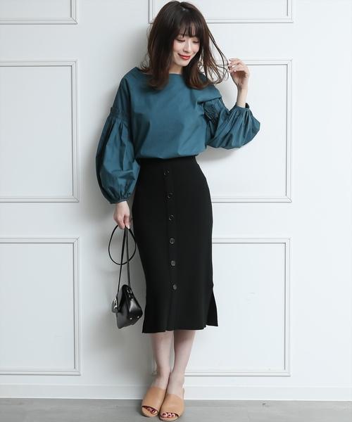 [clear] リブニットタイトスカート