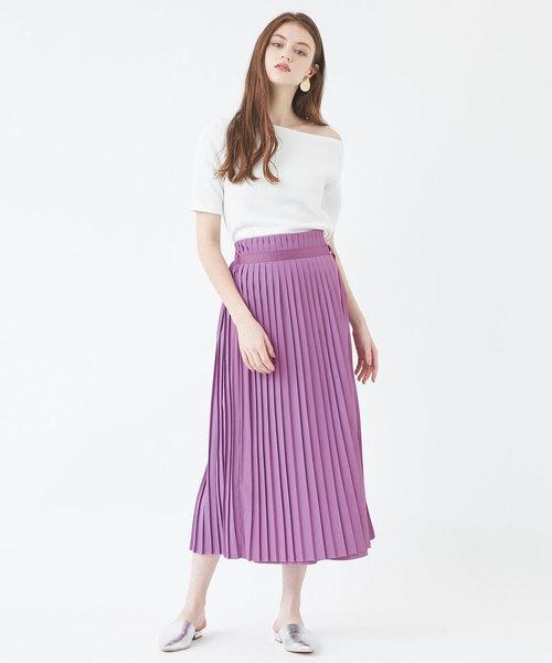 [titivate] プリーツラップロングスカート