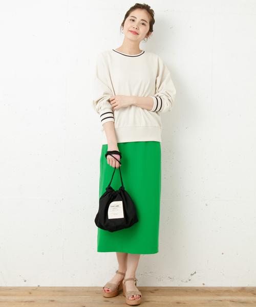 カラータイトミディスカート