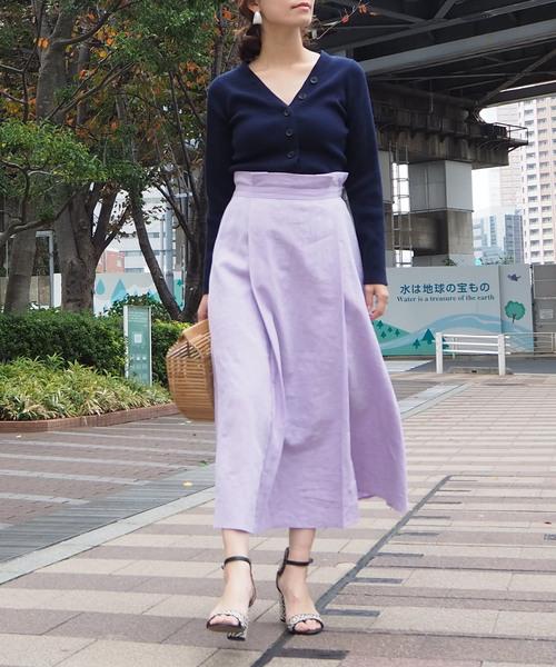 [COOMB] 【Arumlily】 カラーリネンスカート