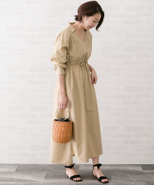 [URBAN RESEARCH ROSSO WOMEN] カシュクールマキシシャツワンピース