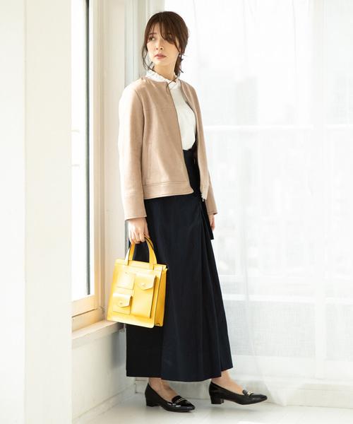 [ViS] 【2WAY】ツイルハイウエストジャンパースカート