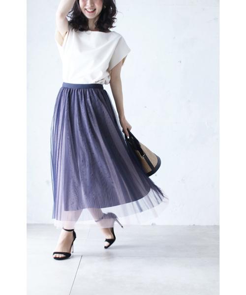 [cawaii] 柔らかく重ねたチュール。グラデーションベールスカート