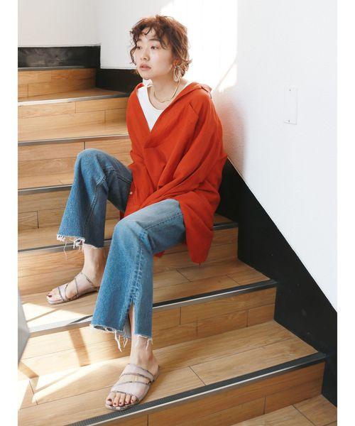 [Ungrid] リネン混スキッパービッグシャツ