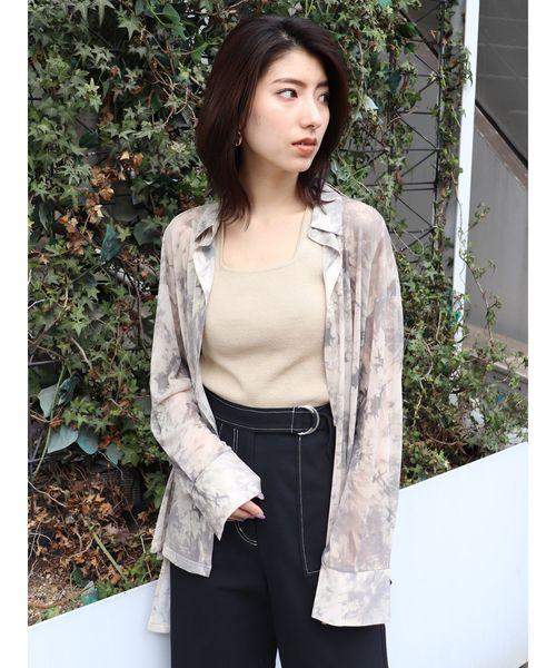 [MURUA] タイダイチュールオーバーシャツ