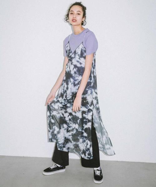 [X-girl] TYE-DYE CAMI DRESS