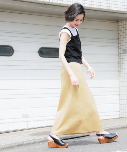 フレンチリネンマーメイドスカート