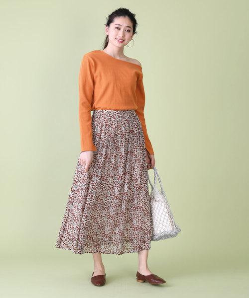 [FREAK'S STORE] ジョーゼット花柄スカート