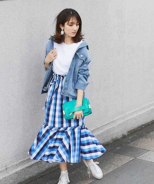 [tocco closet] ギンガムチェックマーメイドスカート