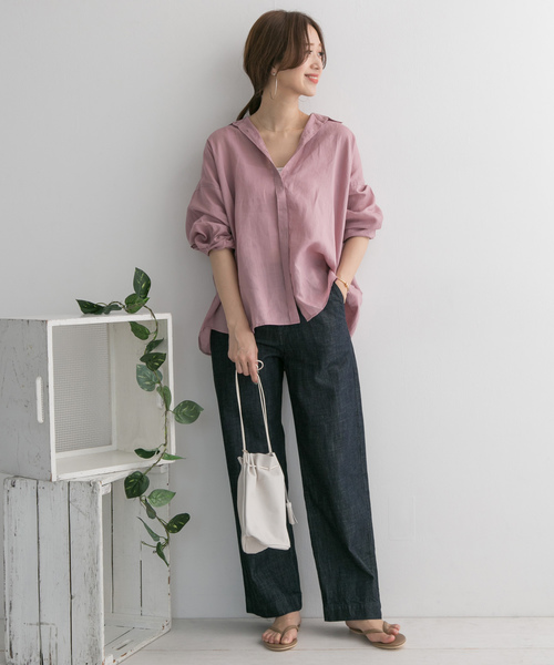 [URBAN RESEARCH DOORS] ラミーワイドシャツ