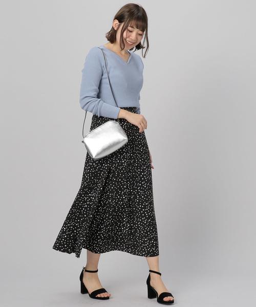 [archives] ドットストライプ切り替えスカート