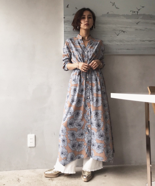 [Ameri VINTAGE] TIE SHIRT DRESS