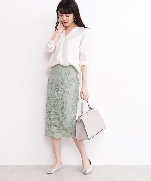 [N.(N. Natural Beauty Basic)] ◆ガルーダツイルシャツ Vネック