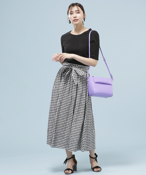 [nano・universe] 【Marisol 6月号掲載】フレンチリネンギャザースカート