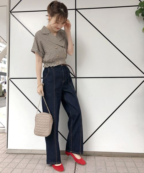 [one after another NICE CLAUP] 【WEB STORE限定】ハイウエストパンツ