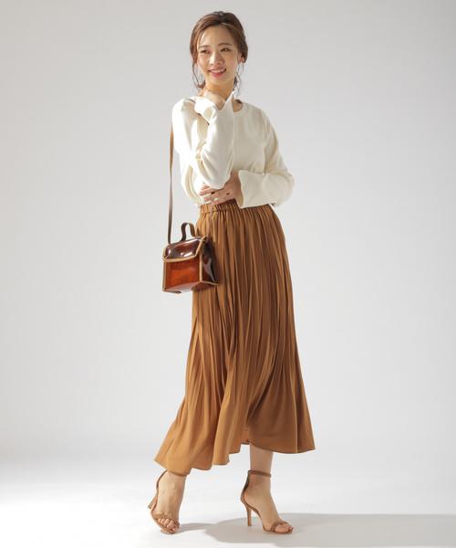 [BAYFLOW] カラープリーツスカート