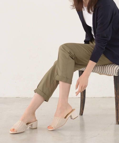 [AmiAmi] 《2019春夏新作》メッシュ編みミュールサンダル