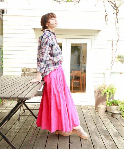 [niko and...] インドボイルフレアロングスカート
