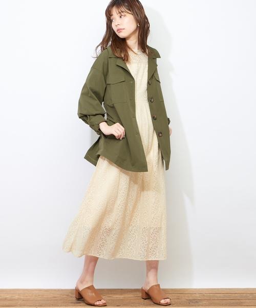[natural couture] 共ベルト付サファリジャケット