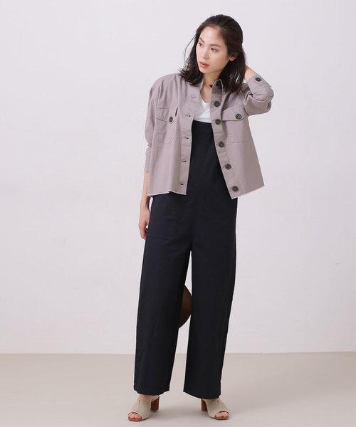 [nano・universe] 【WEB限定】カットオフミリタリーシャツジャケット