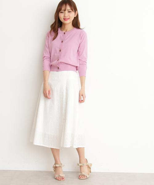 [PROPORTION BODY DRESSING] コットンアイレットミディフレアースカート