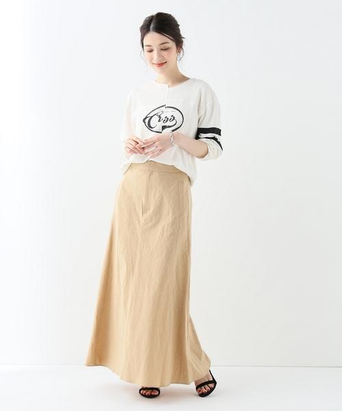 [IENA] SLOBE IENA Fi.m タイプライターマーメイドスカート