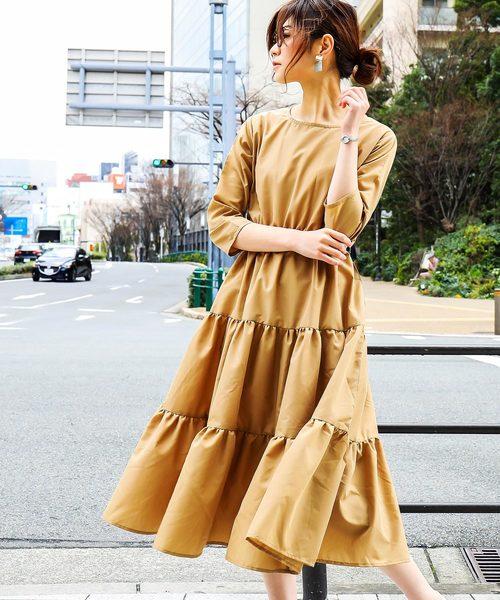 [Fashion Letter] ティアードロングワンピース
