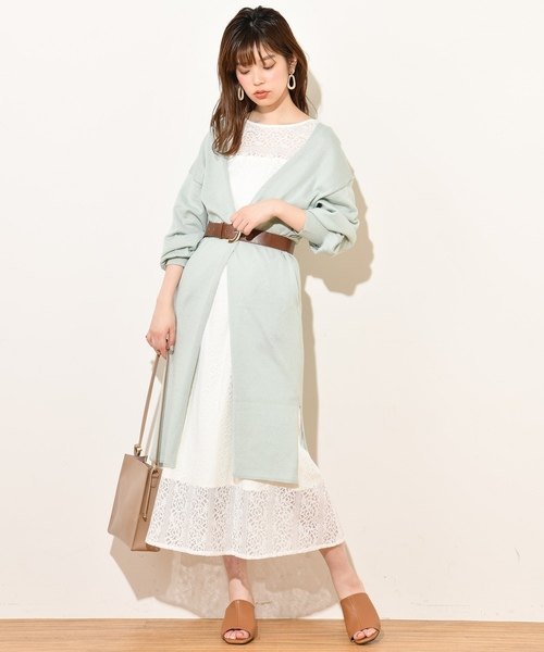 [natural couture] キレイメシンプルロングカーデ