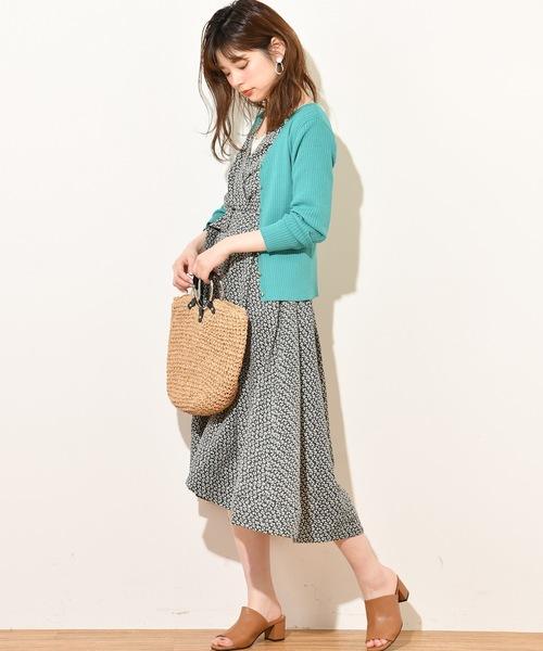 [natural couture] 共ベルト付きカシュクールワンピ2