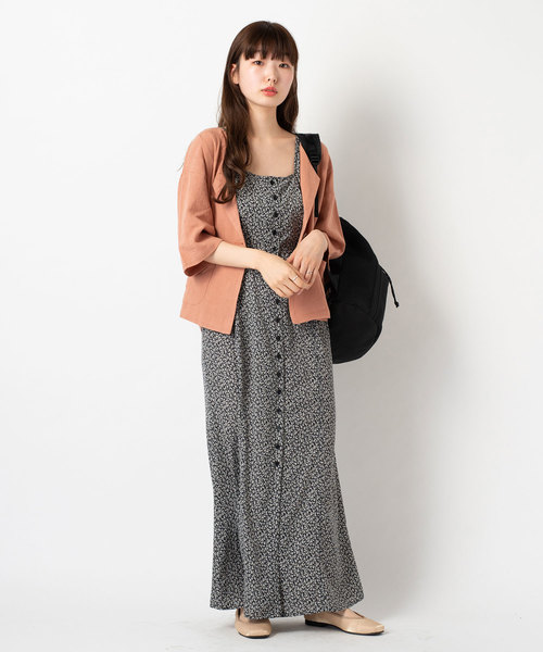 [Kastane] リネン七分袖シャツジャケット