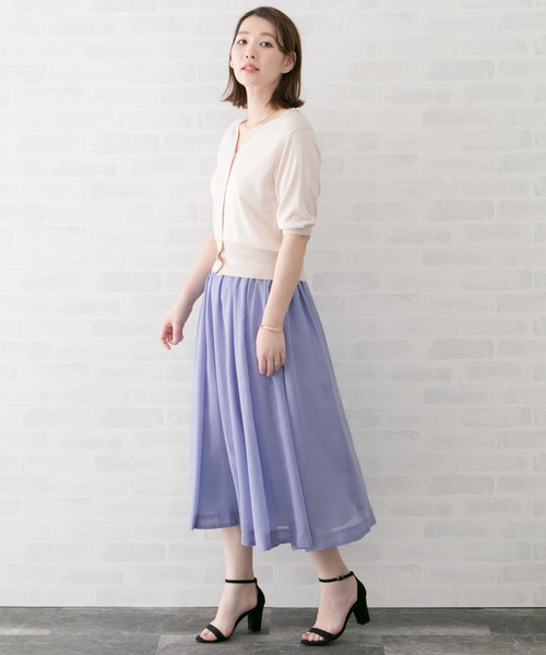 [URBAN RESEARCH ROSSO WOMEN] ギャザーミディスカート