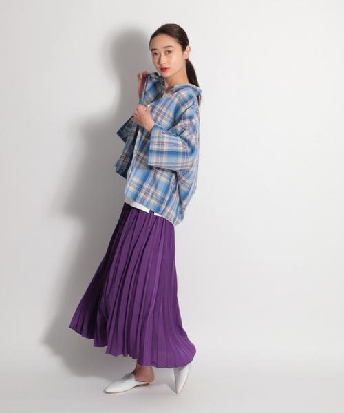 [niko and...] 無地プリーツロングスカート