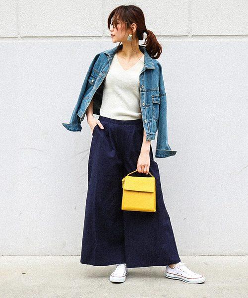 [Fashion Letter] コットンリネン イージーワイドパンツ