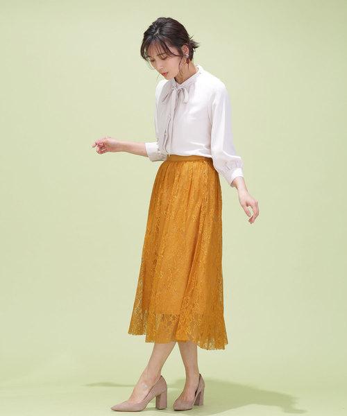 [nano・universe] チュールレーススカート