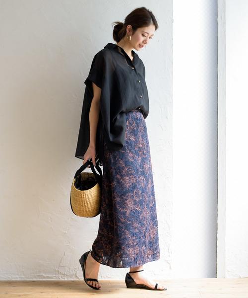 [Loungedress] ジャガードプリントスカート